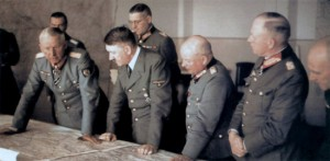 Hitler with von Manstein and members of his general staff
