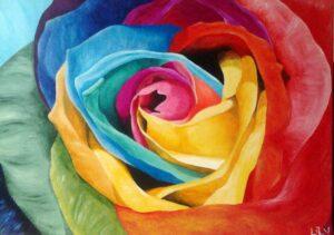 Värvide roos